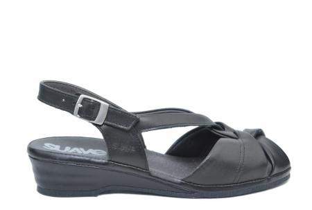 Sandale Piele Naturala Negre Lenduria0