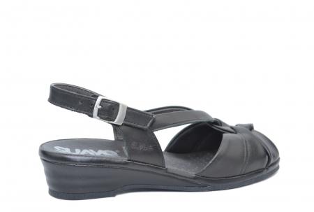 Sandale Piele Naturala Negre Lenduria3
