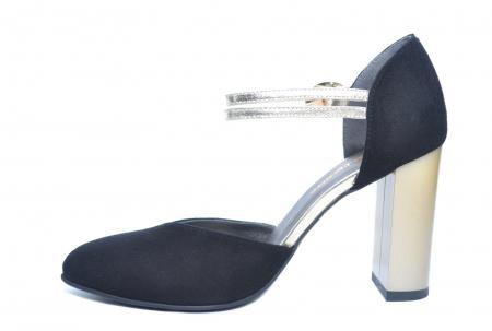 Pantofi Dama Piele Naturala Negri Roksana D02229 [1]