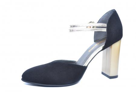 Pantofi Dama Piele Naturala Negri Roksana D02229 [2]