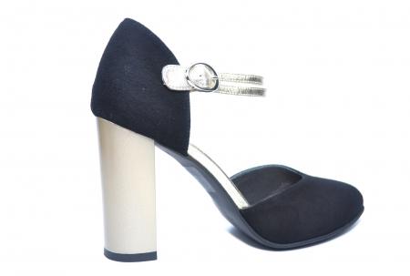 Pantofi Dama Piele Naturala Negri Roksana D02229 [3]
