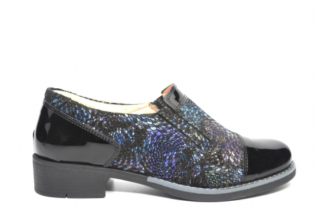 Pantofi Casual Piele Naturala Neagra Lucille D022240