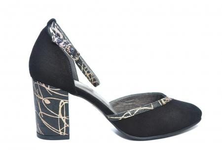 Pantofi Dama Piele Naturala Negri Barbara D022270
