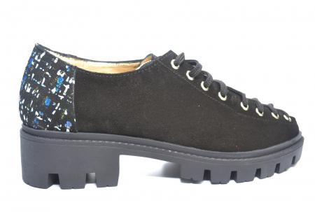 Pantofi Casual Piele Naturala Neagra Sofia D022230