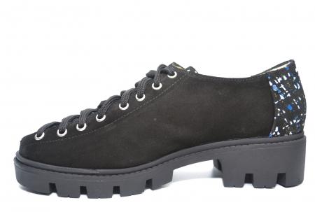 Pantofi Casual Piele Naturala Neagra Sofia D022231