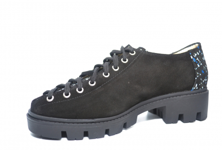 Pantofi Casual Piele Naturala Neagra Sofia D022232