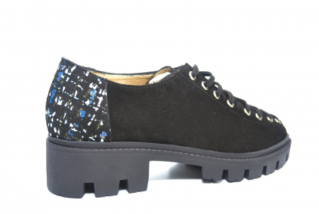 Pantofi Casual Piele Naturala Neagra Sofia D022233