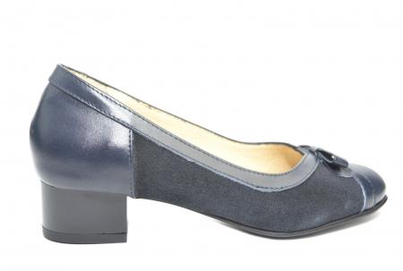 Pantofi cu toc Piele Naturala Bleumarin Marcella D022170