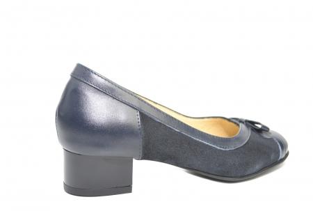 Pantofi cu toc Piele Naturala Bleumarin Marcella D022173