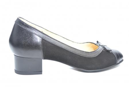 Pantofi cu toc Piele Naturala Negri Marcella D022180