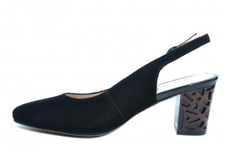 Pantofi Dama Piele Naturala Negri Epica Marielle D022391