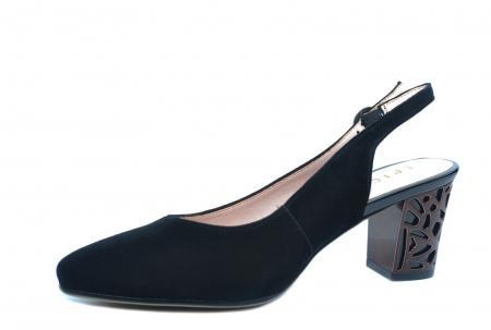 Pantofi Dama Piele Naturala Negri Epica Marielle D022392
