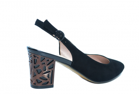Pantofi Dama Piele Naturala Negri Epica Marielle D022393