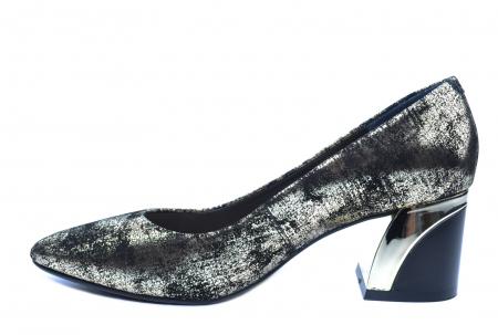 Pantofi cu toc Piele Naturala Negri Epica Alva D022381