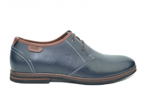 Pantofi Barbati Piele Naturala Bleumarin Otter Iurie B000300