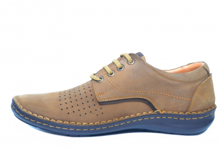 Pantofi Casual Barbati Piele Naturala Maro Otter Decebal B000361