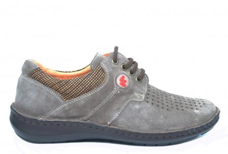 Pantofi Casual Barbati Piele Naturala Gri Haralambie B000400