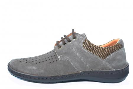 Pantofi Casual Barbati Piele Naturala Gri Haralambie B000401