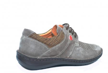 Pantofi Casual Barbati Piele Naturala Gri Haralambie B000403