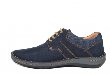 Pantofi Casual Barbati Piele Naturala Bleumarin Otter Eddy B000411