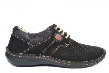 Pantofi Casual Barbati Piele Naturala Negri Otter Elton B000420