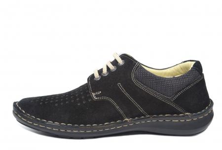 Pantofi Casual Barbati Piele Naturala Negri Otter Elton B000421