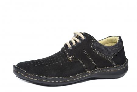 Pantofi Casual Barbati Piele Naturala Negri Otter Elton B000422