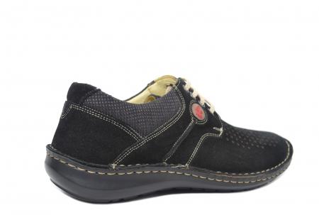 Pantofi Casual Barbati Piele Naturala Negri Otter Elton B000423