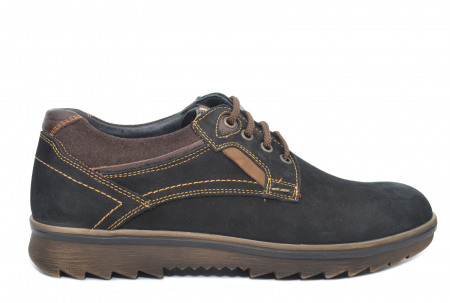 Pantofi Casual Barbati Piele Naturala Negri Otter Felix B000350
