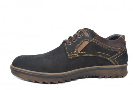 Pantofi Casual Barbati Piele Naturala Negri Otter Felix B000352