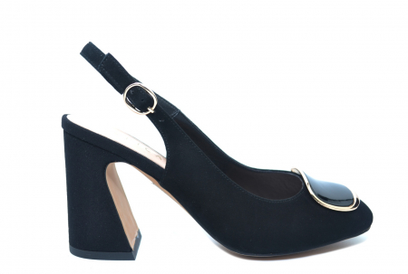 Pantofi Dama Piele Naturala Negri Epica Catinca D022500