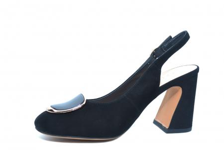 Pantofi Dama Piele Naturala Negri Epica Catinca D022502