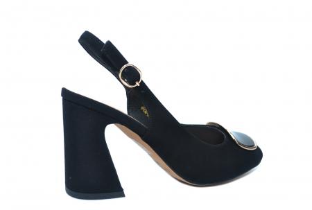 Pantofi Dama Piele Naturala Negri Epica Catinca D022503