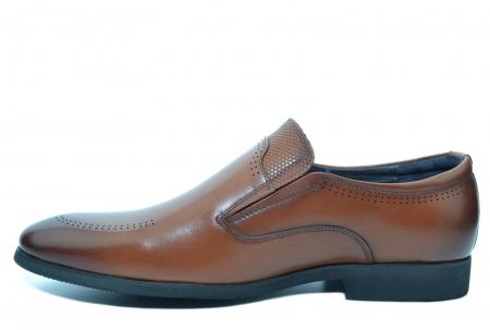 Pantofi Barbati Piele Naturala Maro Ermin B000471