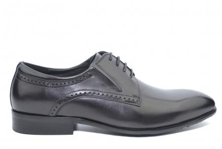 Pantofi Barbati Piele Naturala Negri Edison B00045 [0]