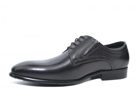 Pantofi Barbati Piele Naturala Negri Edison B00045 [2]