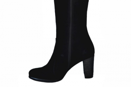 Cizme cu toc Dama Piele Naturala Negre Moda Prosper Simona D015445