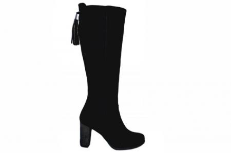 Cizme cu toc Dama Piele Naturala Negre Moda Prosper Simona D015440