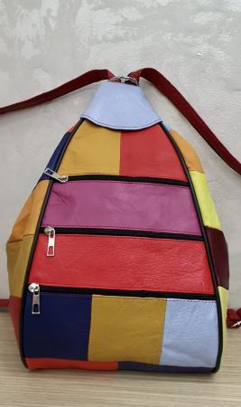 Rucsac Dama Piele Naturala Multicolor Seana G003742