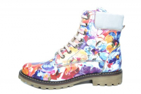 Ghete Casual Piele Naturala Floral Kendra D019311