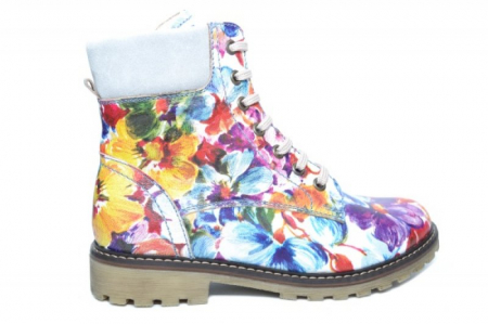 Ghete Casual Piele Naturala Floral Kendra D019310