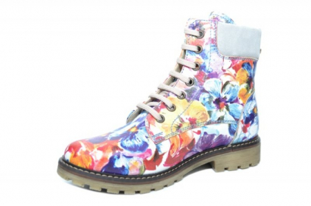 Ghete Casual Piele Naturala Floral Kendra D019312
