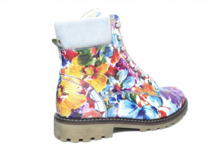 Ghete Casual Piele Naturala Floral Kendra D019313