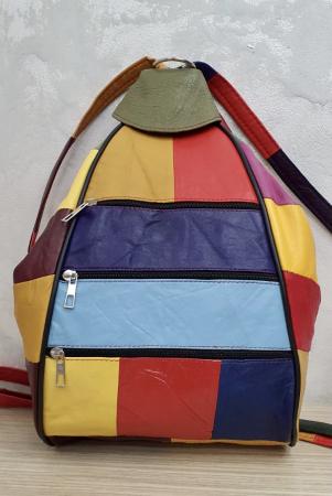 Rucsac Dama Piele Naturala Multicolor Seana G003701