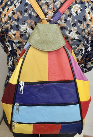 Rucsac Dama Piele Naturala Multicolor Seana G003700