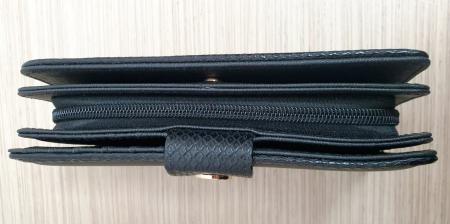 Portofel Dama Piele Negru Satine P000154