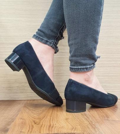 Pantofi cu toc Piele Naturala Bleumarin Ara Lizelle D026486