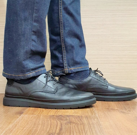 Pantofi Barbati Piele Naturala Otter Blue B001021