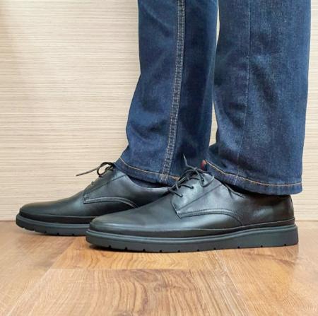 Pantofi Barbati Piele Naturala Otter Blue B001020