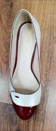 Pantofi cu toc Piele Naturala Alb Moda Prosper Simina D026497